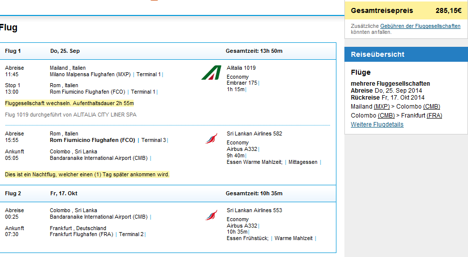 Cheap open-jaw flights to Colombo, Sri Lanka from €285 or Ł267!