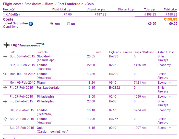 BA: open-jaw flights to USA (New York, Miami) from Europe Ł199/€244 & up