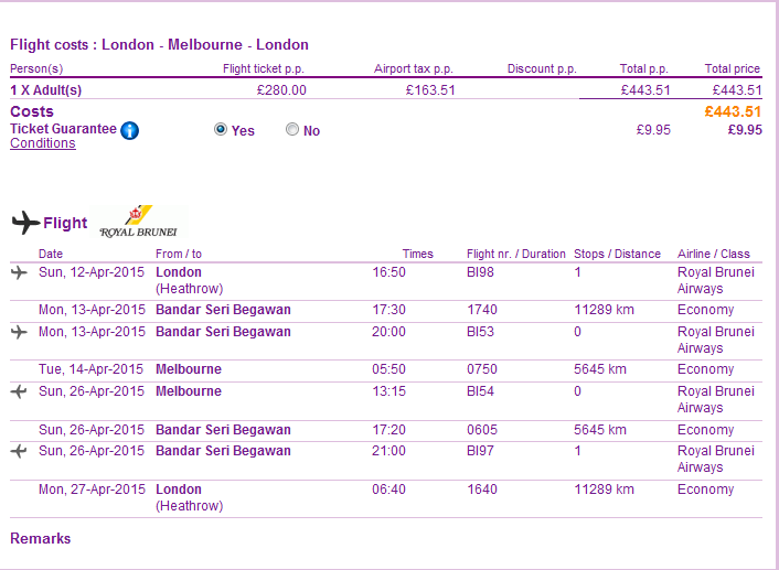 Error fare - Roundtrip flighs from London to Australia for Ł443 (€545)!!