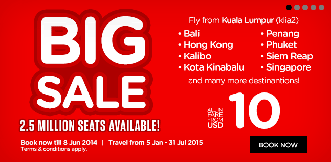 Air Asia Big Sale Promotion Flights From Usd 4 One Way