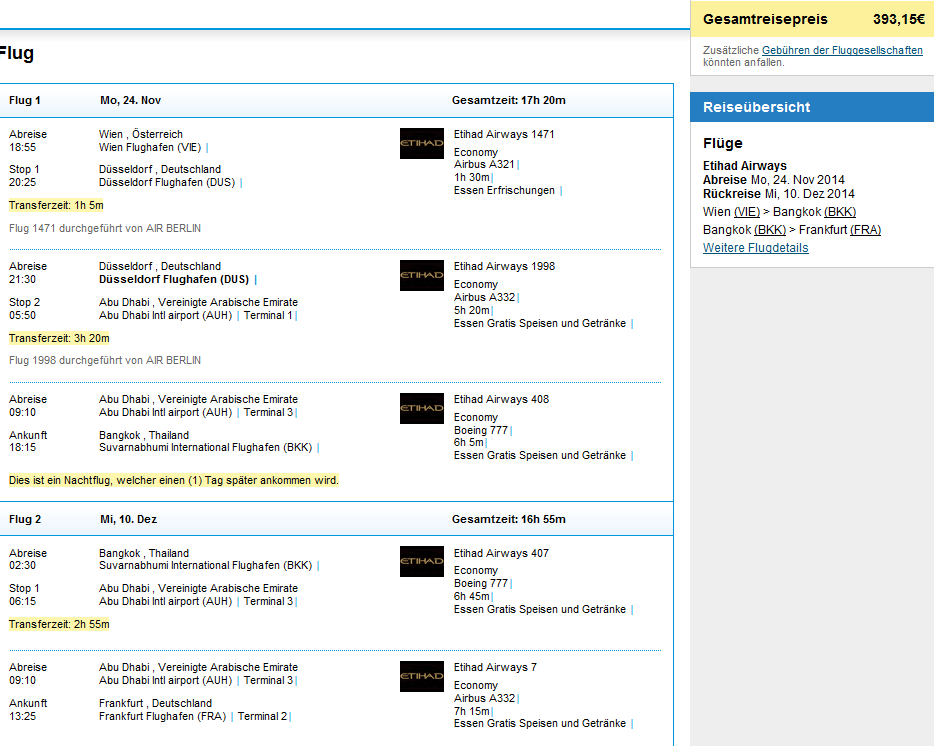 Cheap flights to Bangkok, Thailand in main season from €393!