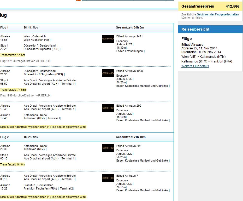 Nepal: open-jaw flights Vienna-Kathmandu-Germany from €412!