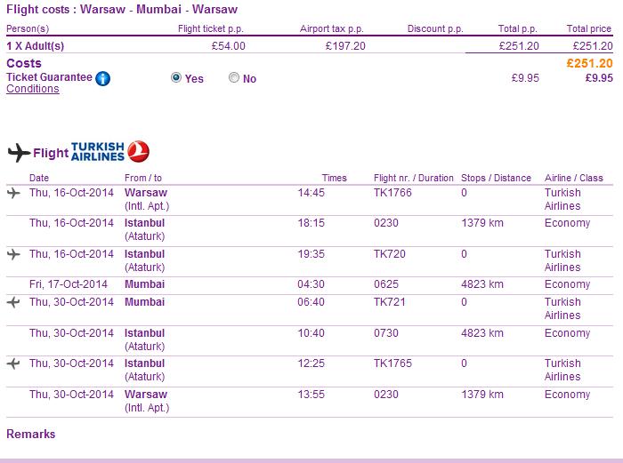 Cheap roundtrip flights to Mumbai, India from Europe from €315!