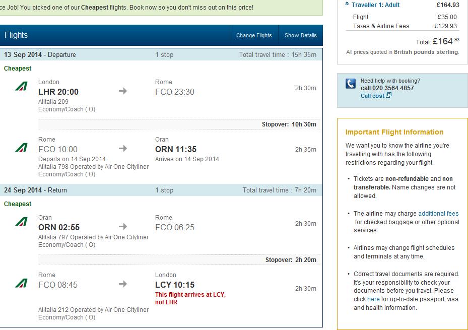 Alitalia Roundtrip Flights To Algeria From London From