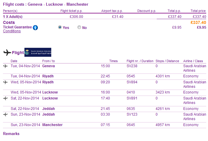 Flights to India (Lucknow) from Europe from Ł337/€426!