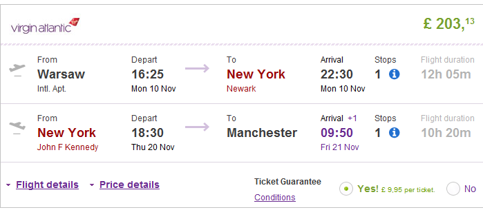 Cheap open-jaw flights to New York from Europe from Ł203 (€255)!