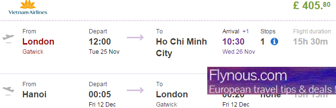 Cheap flights to Vietnam (Phu Quoc, Hanoi, Saigon) from London from Ł405!