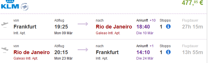 WOW with KLM/AF - flights from Germany to Brazil/Singapore €478!