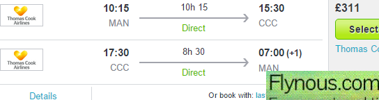 Return flights from UK (Manchester) to Cuba in 2015 from £311!