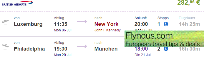 Cheap open jaw flights to USA from Europe during summer 2015 from €283!