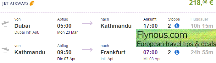 Multi-city flights to USA (+ Canada) , Dubai and Nepal at once from €513!