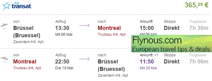 Cheap-flights-to-Canada-Montreal-Toronto-North-America-from Europe-best-deals-2015-Air-Transat-promotion