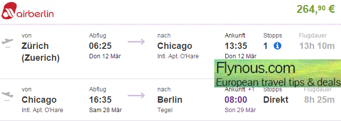 USA - Open jaw flights to Chicago from Europe from €265! (+ New York)