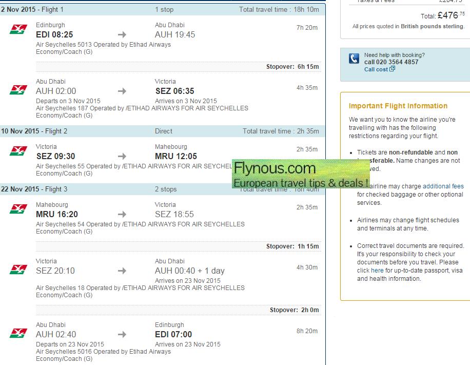 Cheap multi city flights to Seychelles & Madagascar/Mauritius £477/€644!