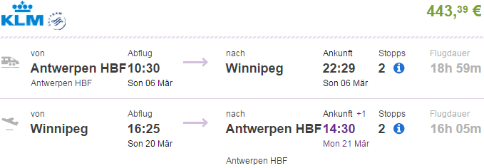 b143f5880cd Cheap flights to Canada - Belgium to Winnipeg from €443 or £324!