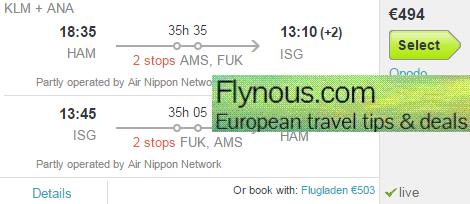Cheap return flights from Germany to Japan (Ishigaki Island) from €494!