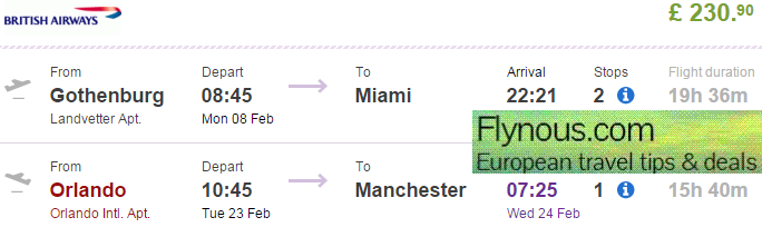 99b7f8edcec7 Cheap British Airways open jaw flights to Florida from £219 (€306)!