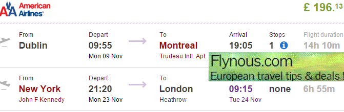 BA: open-jaw flights to North America (return from New York) £196!