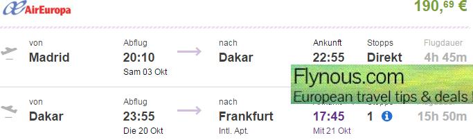 Cheap-error-fare-flights-to-Dakar-Senegal-return-London-UK-Germany-best-travel-deals-2015-Air-Europa-promotional-sale