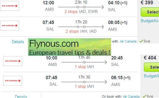 flight deals to central america