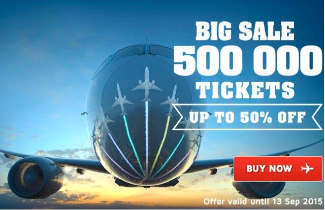 LOT Polish Airlines promotional sale 2015 - up to 50% discount!