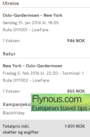 Direct flights from Europe to New York from €196!