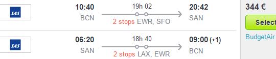 Cheap return flights to California (San Diego) from €344!
