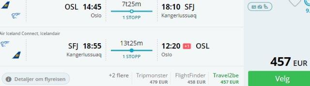 Tired of classic holidays? Fly to Greenland from Europe €457 or £463!