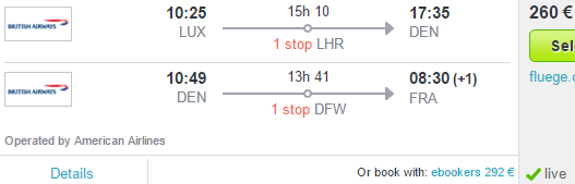 Flights from Europe to Colorado or Texas from €260!