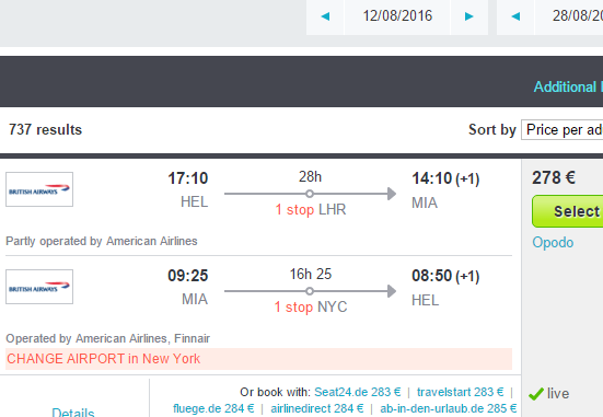 Summer flights from Helsinki (London exit possible) from €278!