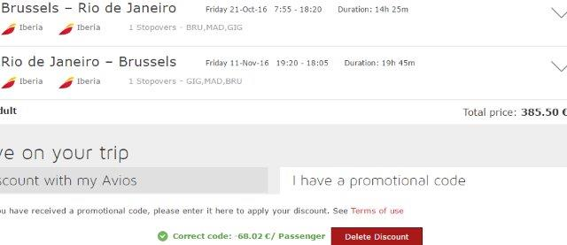 Fly cheap to Brasil - Brussels to Rio de Janeiro from €385!