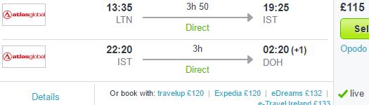 Multi-city flights to Istanbul, Qatar & Bangkok at once £306/€428!