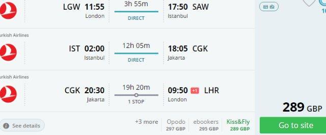 Multi-city flights from UK to Indonesia & Turkey £289!
