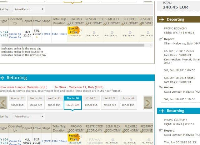 Germany/Italy to South East Asia from €240!