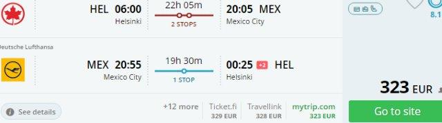 Return flights from Europe to Mexico City from €323!