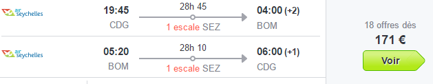 Error fare flights to Mumbai India Asia best travel error fare deals Etihad Airways Air Seychelles promotional sales 2016-2017 to exotic destination