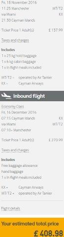Cheap return flights from UK to Grand Cayman Islands from £409!