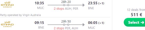 5* Etihad Airways cheap flights to Australia, New Zealand & Oceania €511!
