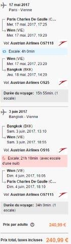 Error fare flights from Paris / London to Bangkok for €241 / £247!
