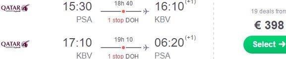 Return flights to Krabi with British Airways / Qatar Airways from €398!