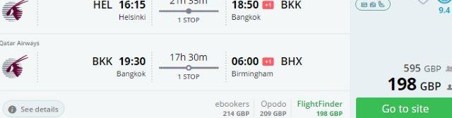 Super cheap open jaw flights to South East Asia from £198 / €232!