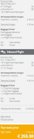 Return flights from Europe to Washington from €260!
