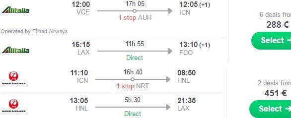 Round-The-World flights to South Korea, Hawaii & California from €739!