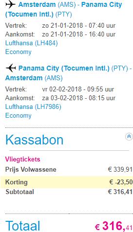 Cheap return flights from Amsterdam to Panama €316!