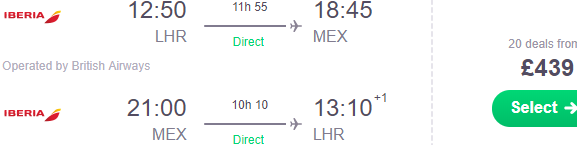 Non-stop flights from London to Mexico City from £439!