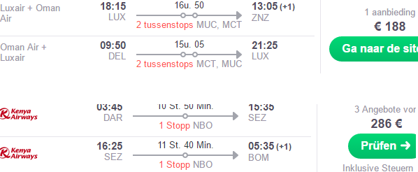 Multi-city flights from Lux to Zanzibar, Seychelles & India from €474!