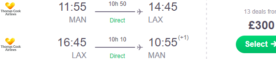 Thomas Cook Airlines 24h flash sale: Manchester to Los Angeles £300!