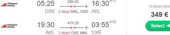 Flights from Dubai to Australia or New Zealand from €349 return!