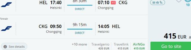 Finnair promotion 2017 - non-stop from Helsinki to China €415, Seoul €475!