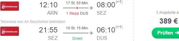 Seychelles: Open-jaw flights Stockholm - Mahe - Germany from €389!